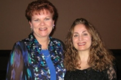 Tessa Afshar with the biblical author Mesu Andrews