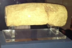 This clay tablet contains the proclamation that set the Jewish nation free from their captivity to Babylon.
